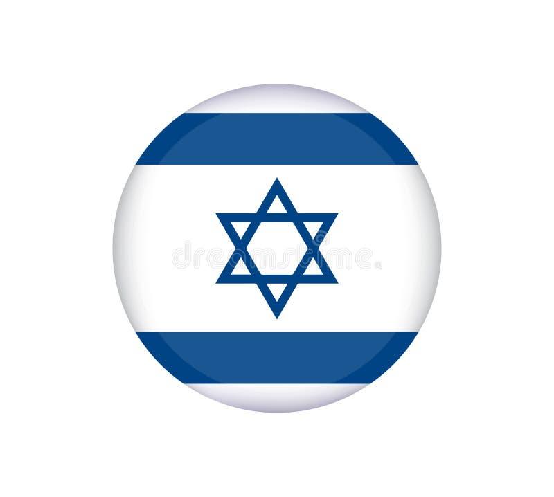 Izrael zaznacza prawidłowo, urzędników kolory i proporcja Obywatela Izrael flaga Płaska wektorowa ilustracja ilustracja wektor