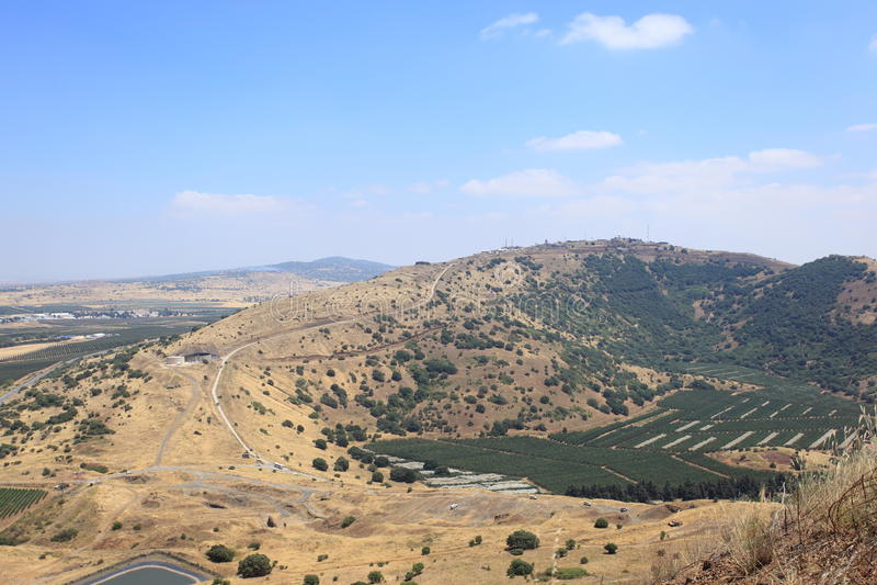 Izraelicki Emplacement w wzgórze golan fotografia stock