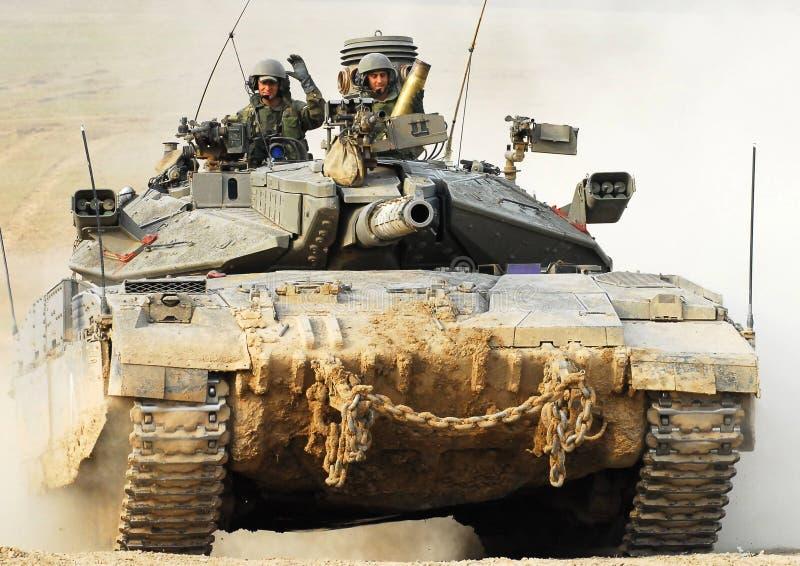 Izraelicki IDF zbiornik - Merkava obraz stock