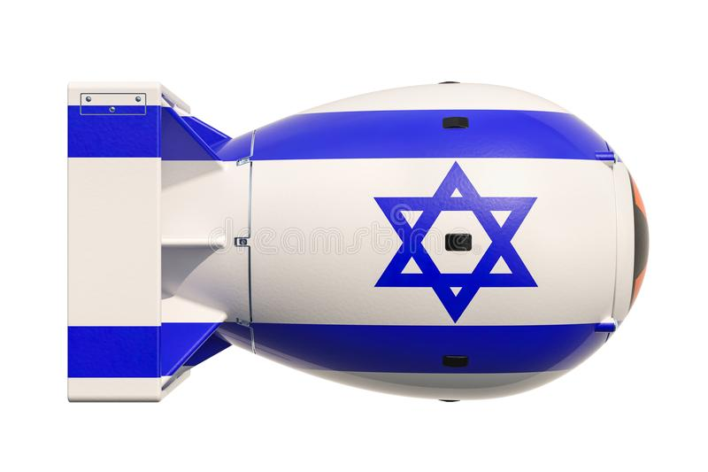 Izraelicki jądrowej broni pojęcie, 3D rendering ilustracja wektor