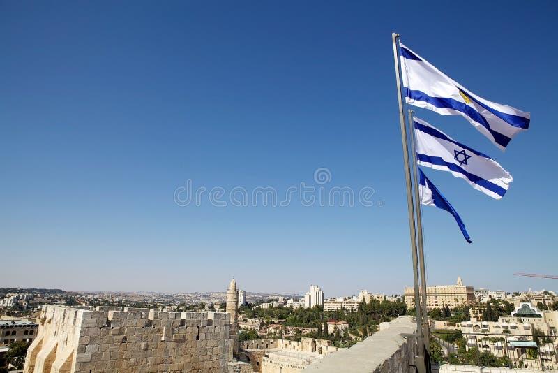 Izraelita flaga zdjęcia royalty free