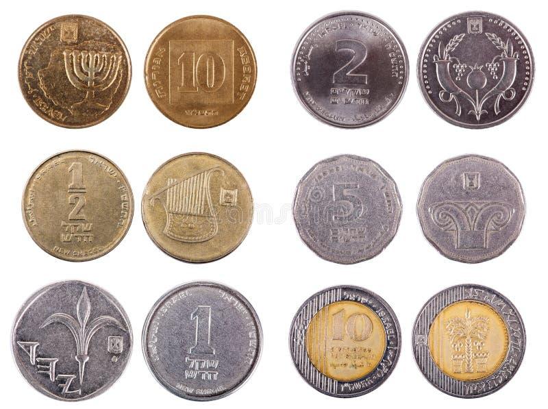 Izraelita monety - antepedium zdjęcie stock