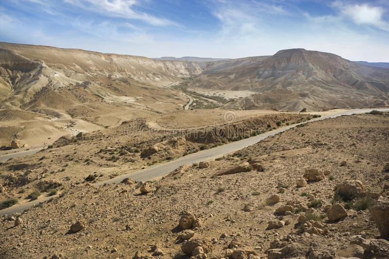 Izraelita pustyni krajobrazu widok obrazy stock