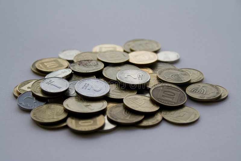 izraelski pieniądze fotografia stock