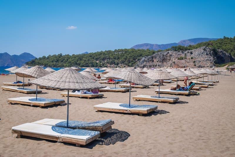 Iztuzu strand i Turkiet fotografering för bildbyråer