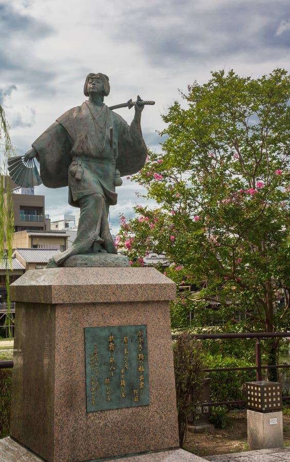 Izumo No Okuni statue. stock photography