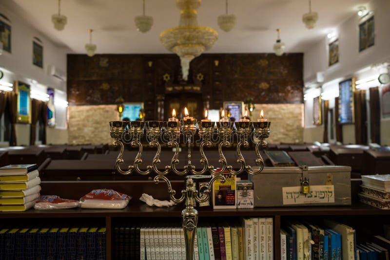 Jánuca en la sinagoga imagen de archivo