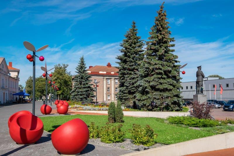 Jõhvi stad estonia arkivbild