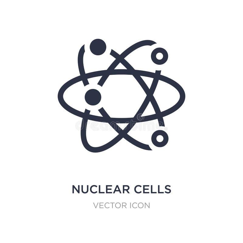 jądrowa komórki ikona na białym tle Prosta element ilustracja od UI pojęcia ilustracja wektor