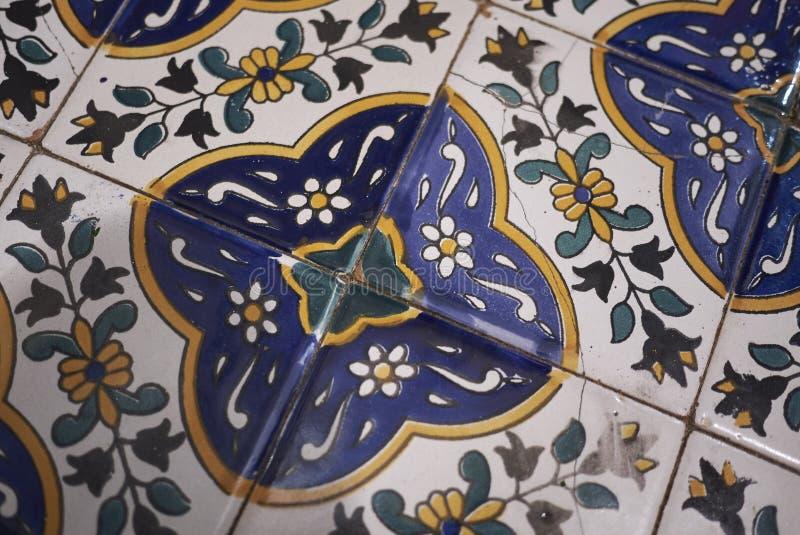 Język arabski dekorująca podłoga fotografia stock