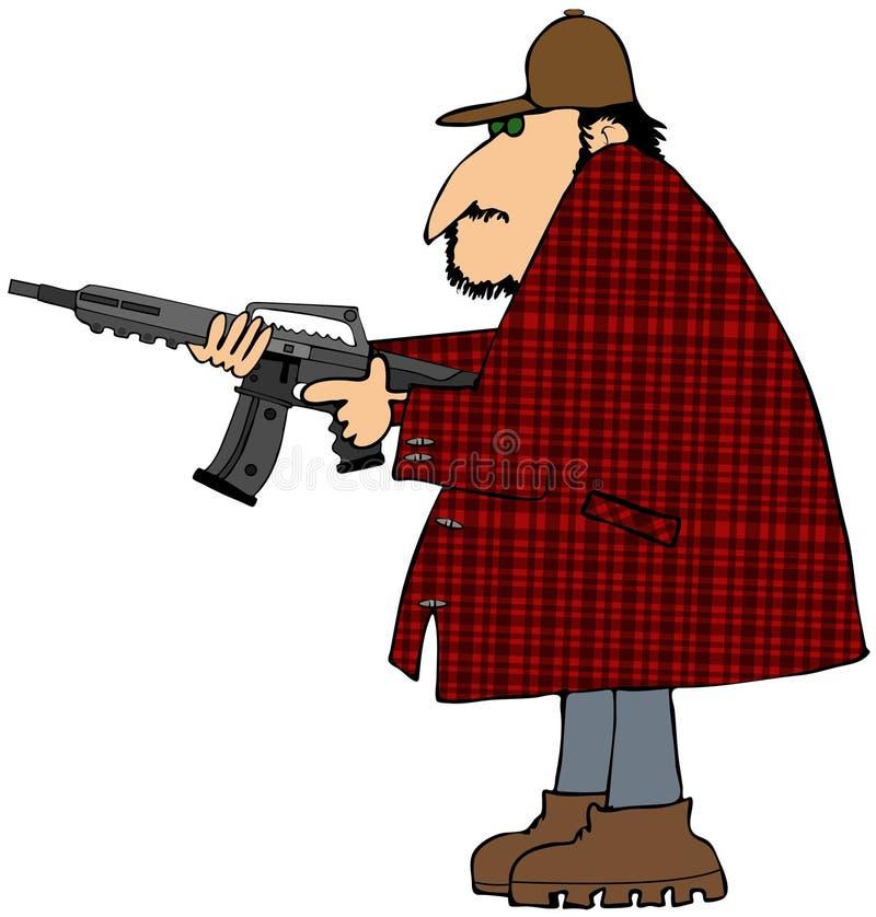 Jäger Mit Einem Sturmgewehr Lizenzfreies Stockfoto