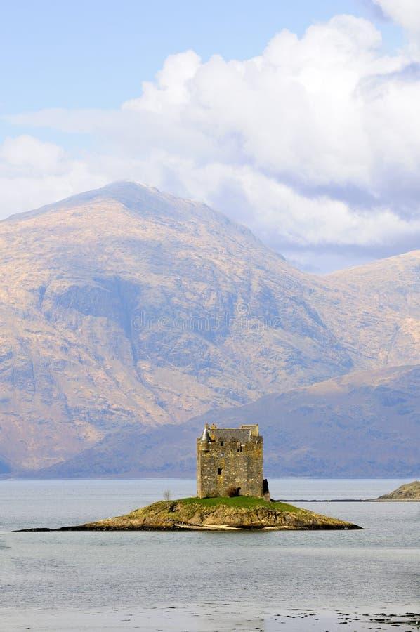 Jäger-Schloss in Schottland stockfotografie