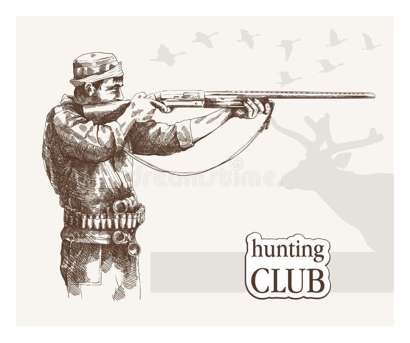 Jäger sieht das Ziel vektor abbildung