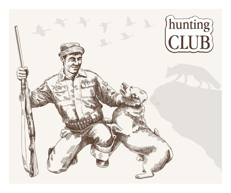 Jäger sieht das Ziel lizenzfreie abbildung
