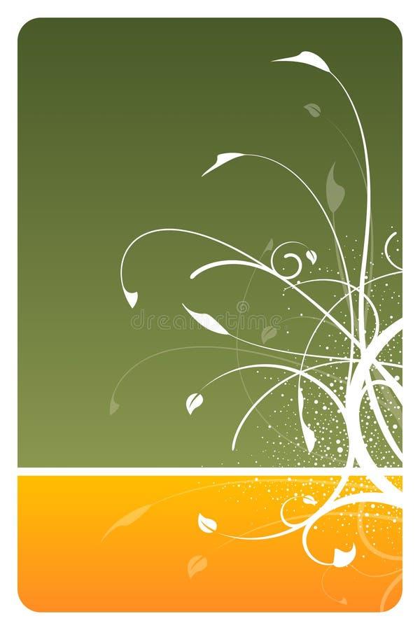 Jägergrün-Blumenkarte stock abbildung
