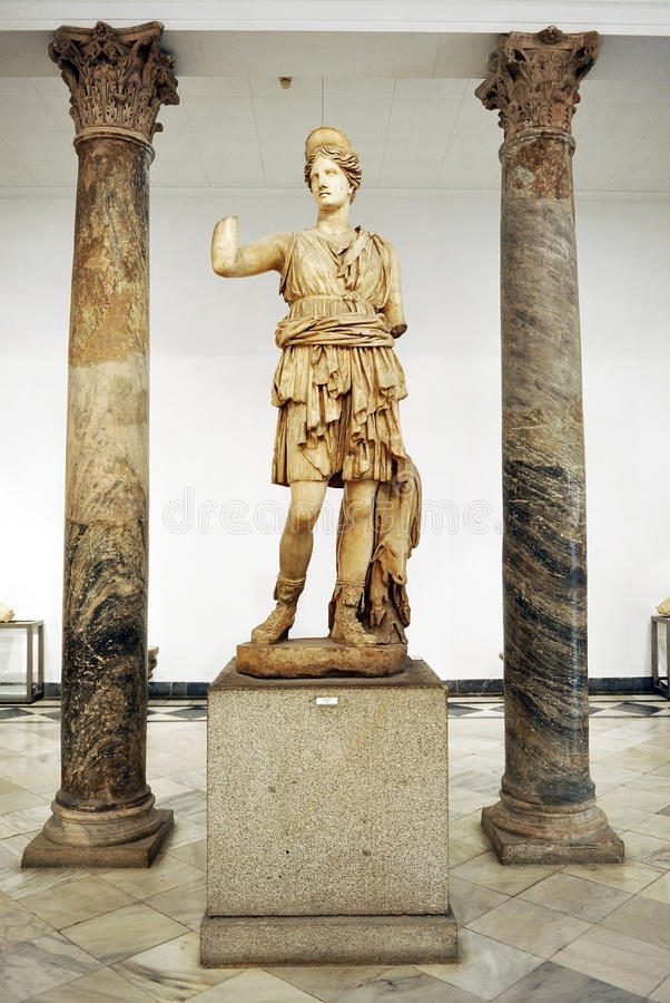 Jägerin Diana, Artemis, Marmorskulptur lizenzfreies stockfoto