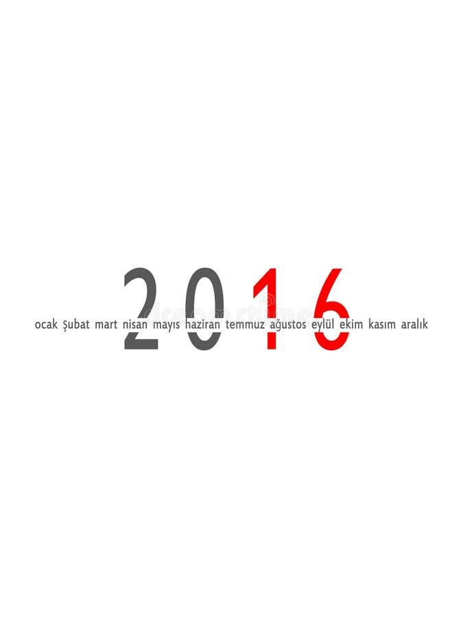 2016-jährig und Monate lizenzfreie stockfotografie