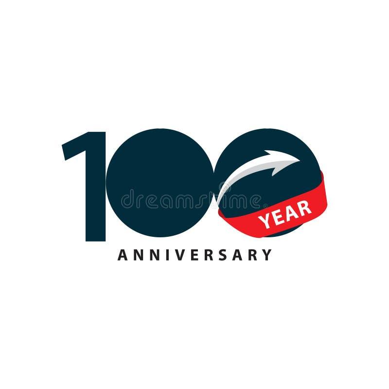 100-jährige Jahrestags-Vektor-Schablonen-Design-Illustration lizenzfreie abbildung