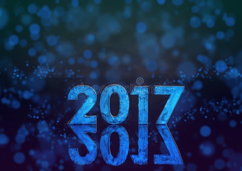 2017-jährige phosphoreszierende Zahl stockbilder