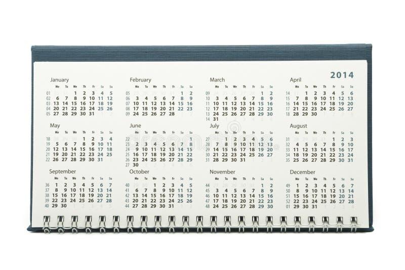 2014-jähriger Kalender stockbilder