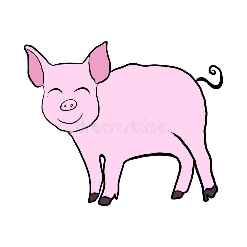 2019-jähriger Vektor des Rosaschweins stock abbildung