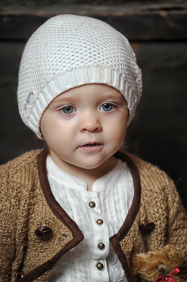 Jähriges blauäugiges kleines Mädchen stockbilder