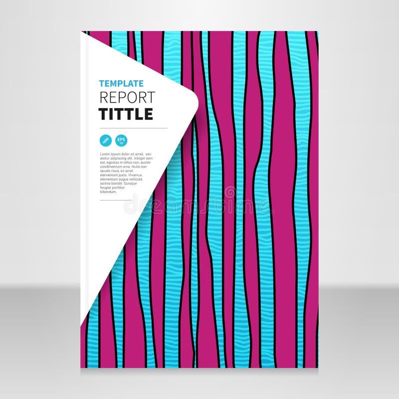 Jährliche Titelberichtsvektorhintergrund-Designschablone stock abbildung