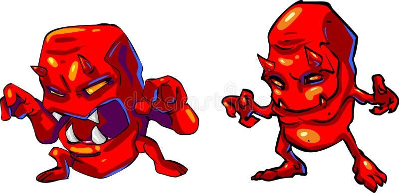 jäkel little röd vektor vektor illustrationer