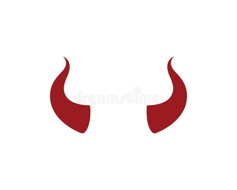 jäkelhorn, djur horn- logosymbolsvektor royaltyfri illustrationer