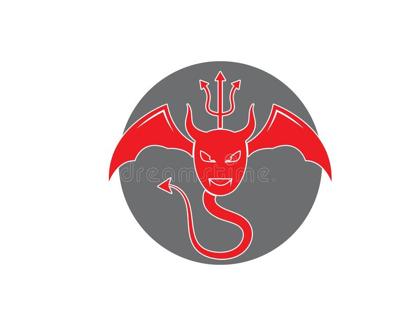Jäkellogovektor royaltyfri illustrationer