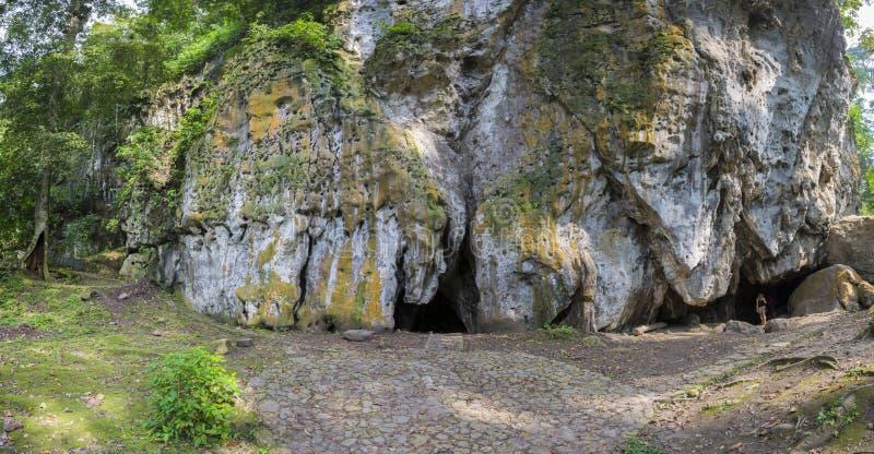 Jäkels grotta, markis och skog i Merida State arkivbild