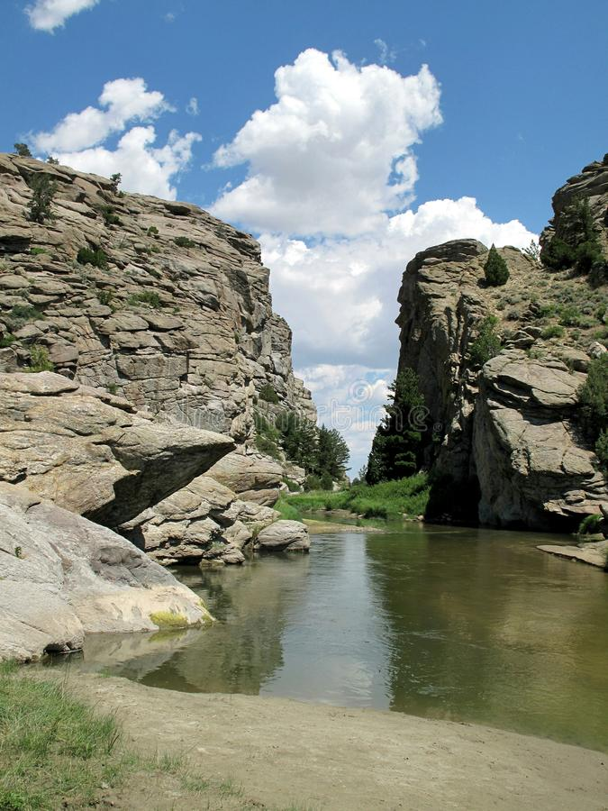 Jäklar utfärda utegångsförbud för, Wyoming royaltyfria foton