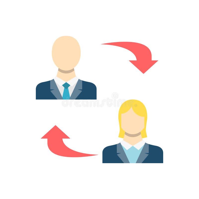 Jämlike till Peer Related Vector Icon royaltyfri illustrationer