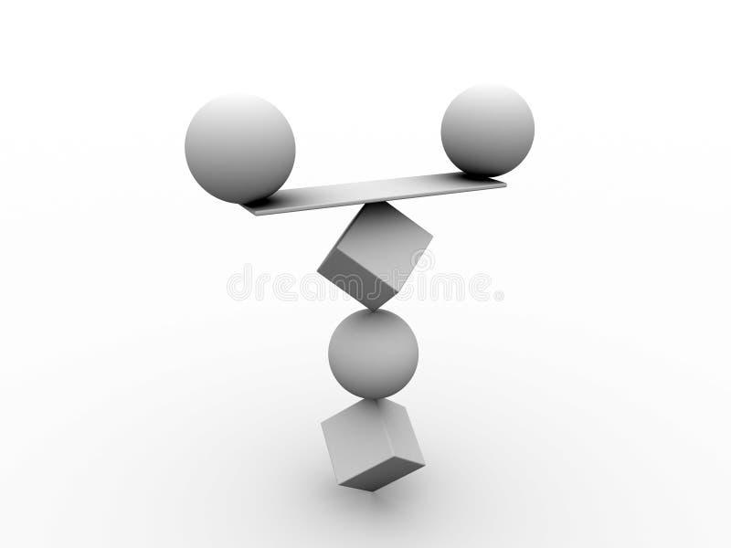 jämvikt vektor illustrationer