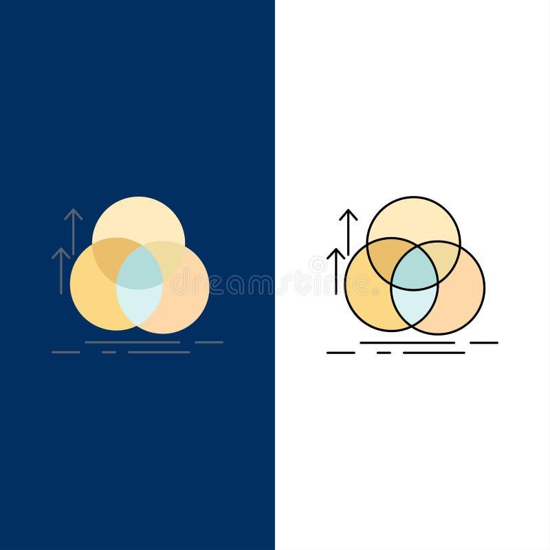 jämvikt cirkel, justering, mätning, för färgsymbol för geometri plan vektor royaltyfri illustrationer