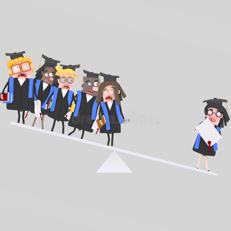 Jämvikt för doktorandgrupp vektor illustrationer