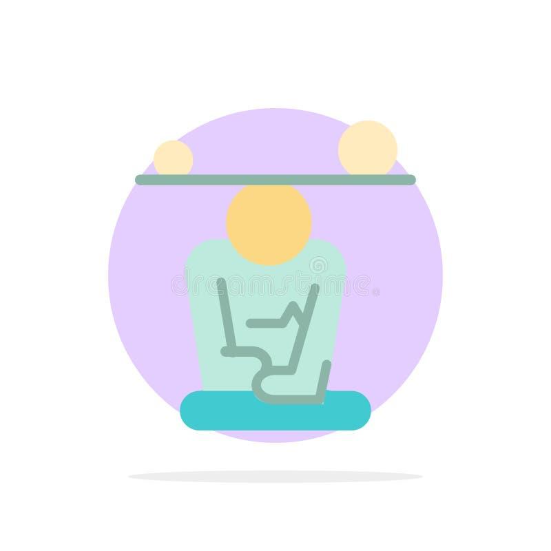 Jämvikt koncentration, meditation, mening, för abstrakt symbol för färg cirkelbakgrund för Mindfulness plan vektor illustrationer