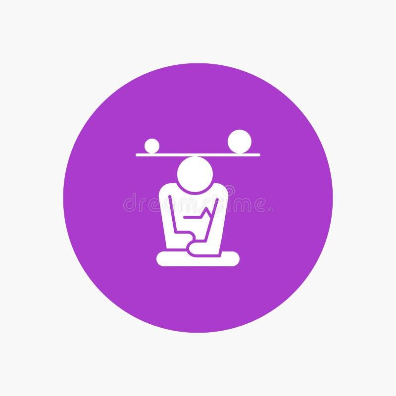 Jämvikt koncentration, meditation, mening, Mindfulness vektor illustrationer