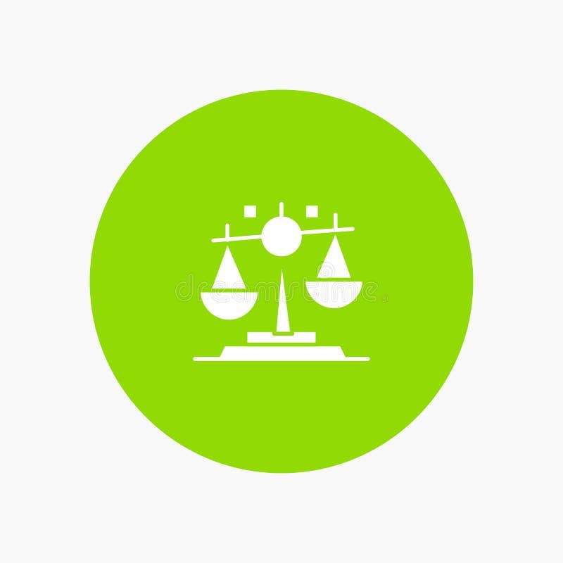 Jämvikt lag, rättvisa, finans stock illustrationer