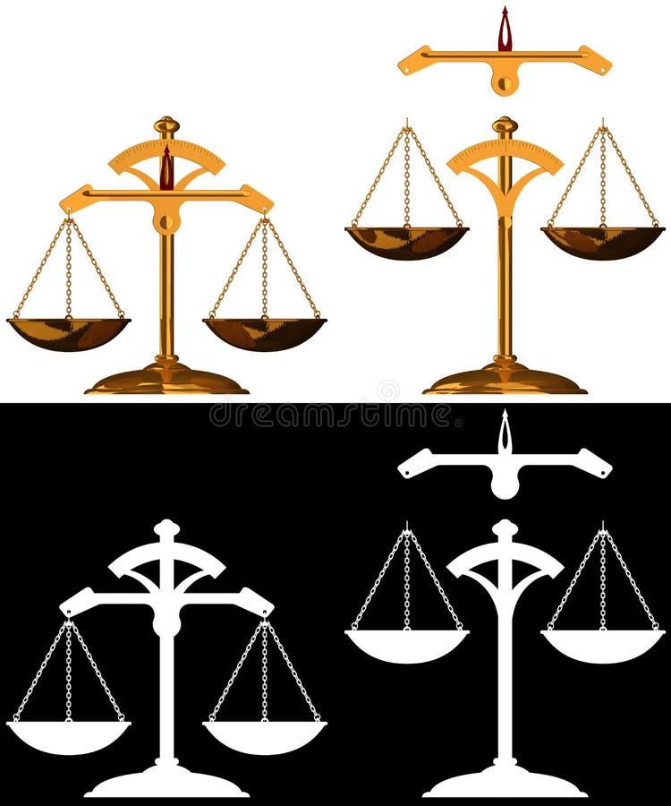 jämviktsguld royaltyfri illustrationer