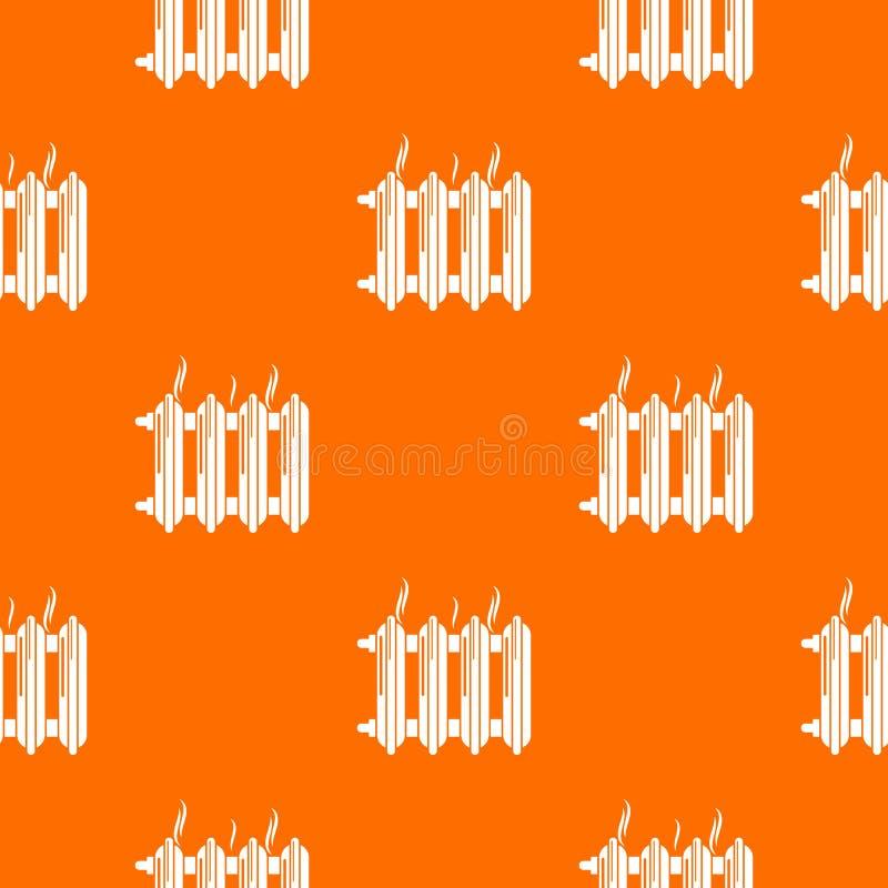 Järn- apelsin för batterimodellvektor royaltyfri illustrationer