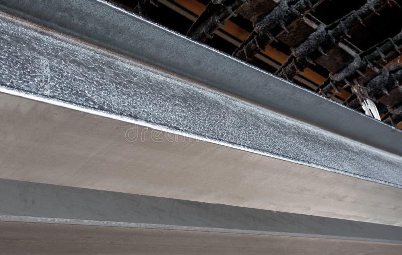 Järn och stål skyddas av varmt galvanisera arkivfoto
