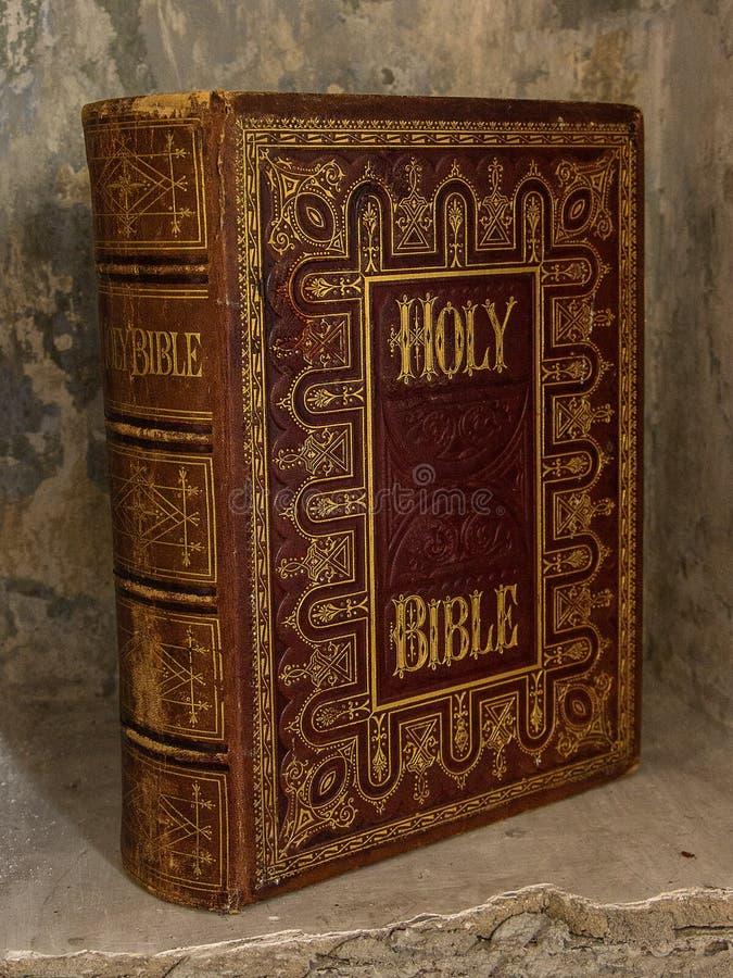 Järnekbibel gammal bok arkivfoto