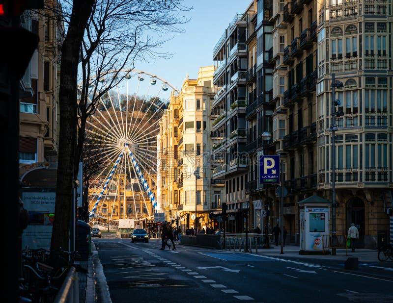Järnratten i San Sebastian, Spanien arkivbild