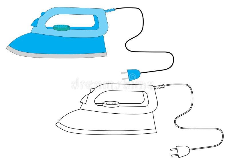 järntecknad film för färgläggningdiagram för bok färgrik illustration lek för förskole- barn vektor stock illustrationer