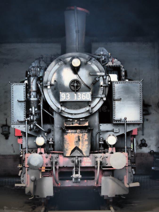Järnväg ångalokomotiv - gammal rostad bakgrund för metalltexturgrunge royaltyfri fotografi