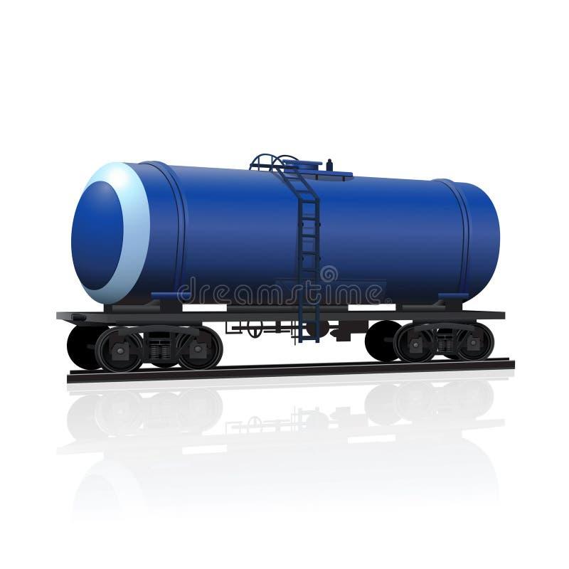 Järnväg behållare för trans. av oljaprodukter royaltyfri illustrationer