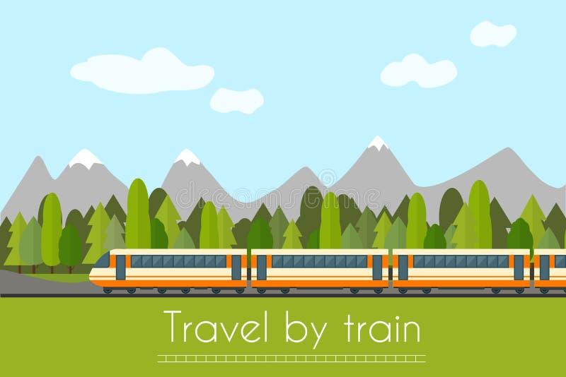 järnväg drev vektor illustrationer