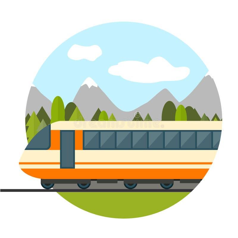 järnväg drev stock illustrationer