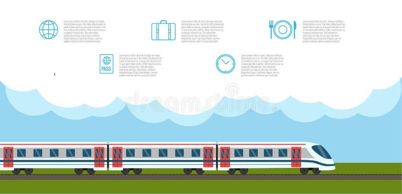 järnväg drev royaltyfri illustrationer